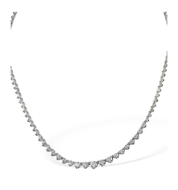 Diamond Necklace 18K White Gold 3.00ct H/Si - image 1