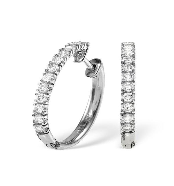 9K White Gold Diamond Earrings 0.50ct - image 1