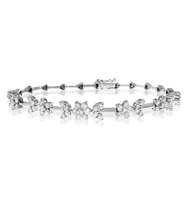 18K WHITE GOLD DIAMOND BRACELET 2.20CT - J3343 - image 1
