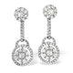 18K White Gold Diamond Earring 1.26ct H/Si - image 1