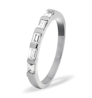 EMERALD CUT PLATINUM Diamond ETERNITY RING 1.00CT G/VS