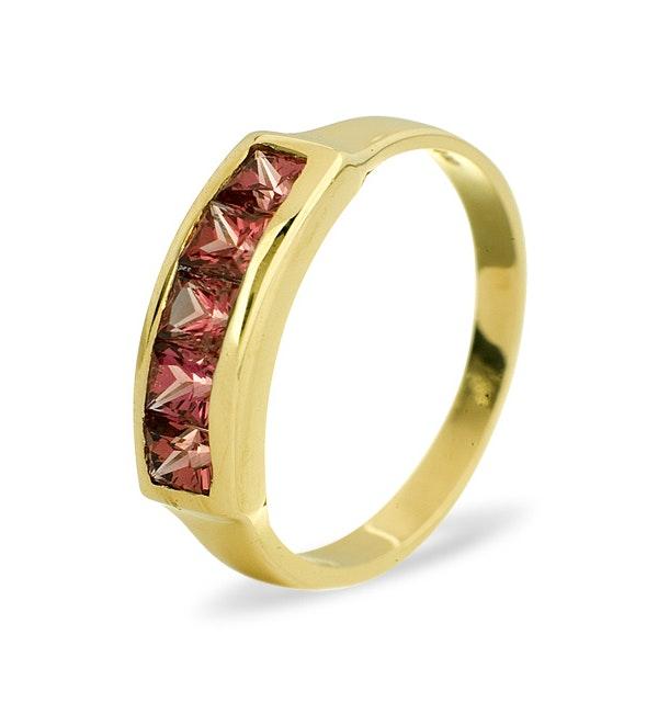 Rhodalite Garnet 0.60CT 9K Gold Ring - image 1