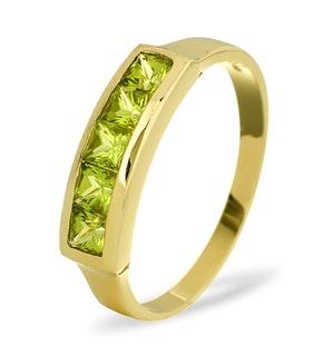 Peridot 3mm 9K Yellow Gold Ring