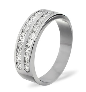 LUCY PLATINUM Diamond ETERNITY RING 0.50CT H/SI