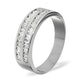 LUCY 18K White Gold Diamond ETERNITY RING 0.50CT H/SI - image 1
