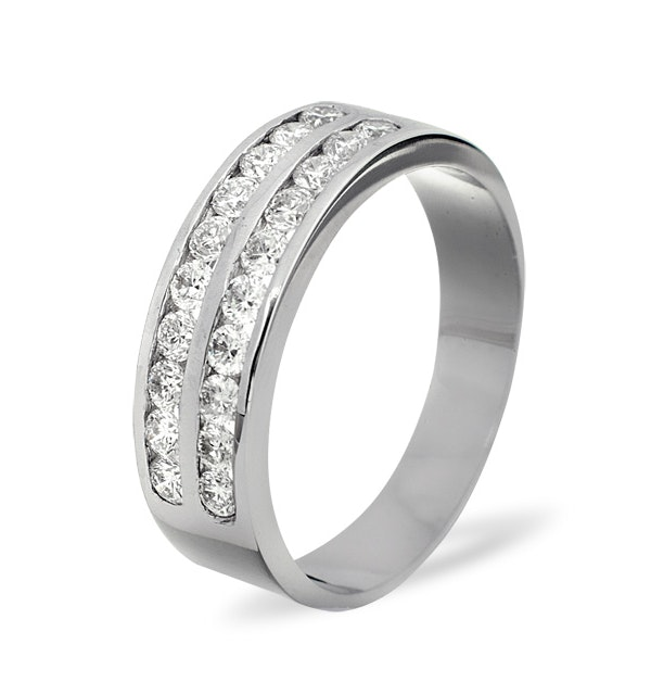 LUCY 18K White Gold Diamond ETERNITY RING 1.00CT G/VS - image 1
