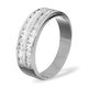 LUCY 18K White Gold Diamond ETERNITY RING 0.50CT H/SI - image 2