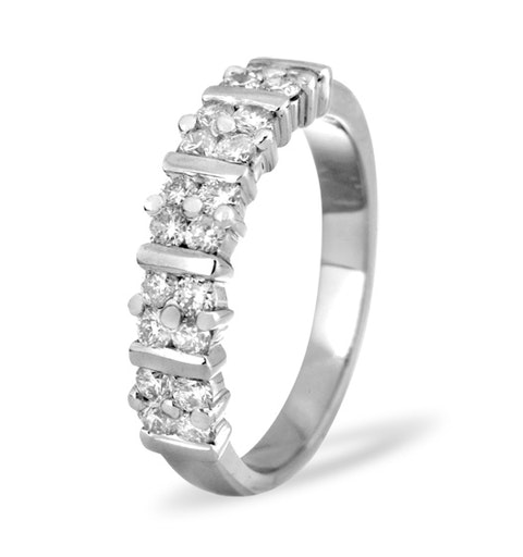 MIA 18K White Gold Diamond ETERNITY RING 0.50CT H/SI - image 1