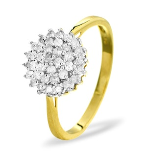 9K Gold Diamond Cluster Ring 0.50ct - E5607