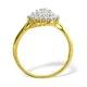9K Gold Diamond Cluster Ring 0.50ct - E5607 - image 3