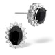 Sapphire 7mm x 5mm And Diamond 9K White Gold Earrings  H4475 - image 1