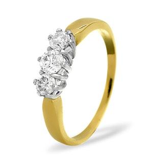 Trilogy Ring 0.50CT Diamond 9K Yellow Gold