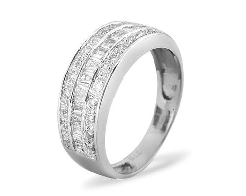 9K Half Eternity Rings