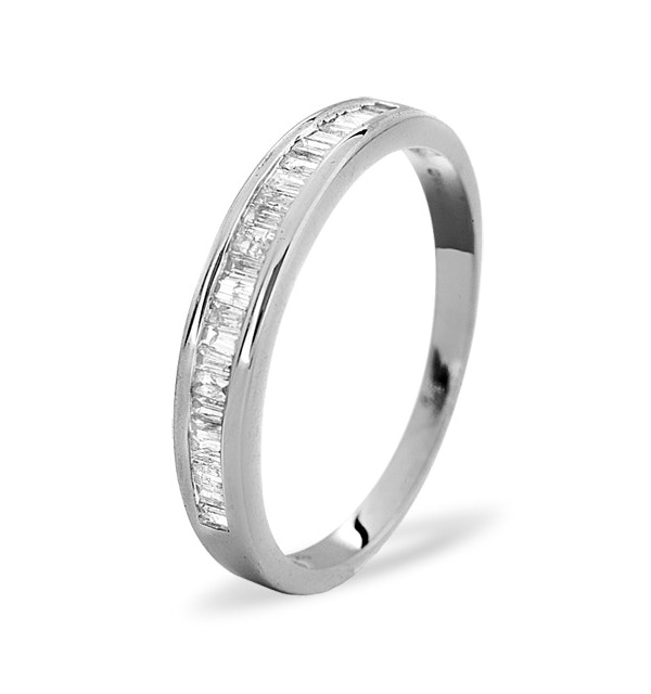 Grace Half Eternity Ring 0.33CT Diamond 9K White Gold - image 1