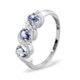 Tanzanite 0.50CT And Diamond 9K White Gold Ring - image 1