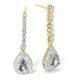 Tanzanite 0.28CT And Diamond 9K Yellow Gold Earrings - image 1