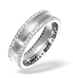 Mens 0.7ct G/Vs Diamond 18K White Gold Dress Ring
