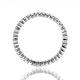 Emily High Set 18K White Gold Diamond Wedding Ring 1.20CT H/SI - image 2