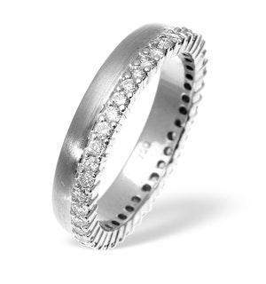Emily High Set 18K White Gold Diamond Wedding Ring 1.20CT G/VS