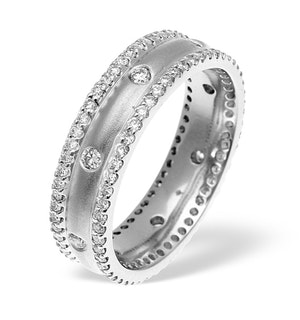Mens 1.3ct G/Vs Diamond 18K White Gold Dress Ring