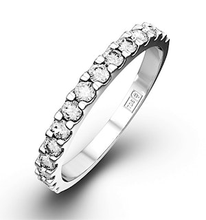 15 STONE CHLOE PLATINUM DIAMOND HALF ETERNITY RING 0.50CT G/VS