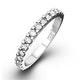15 STONE CHLOE PLATINUM DIAMOND HALF ETERNITY RING 0.50CT G/VS - image 1