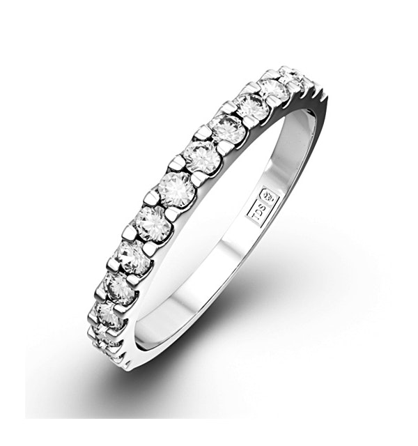 15 Stone Chloe 18K White Gold Diamond Eternity Ring 0.50ct H/Si - image 1