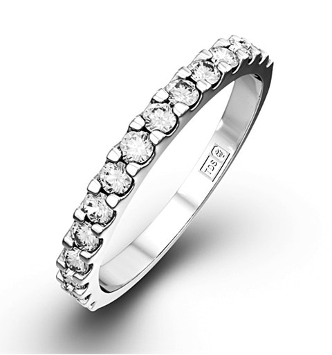 15 STONE CHLOE 18K White Gold DIAMOND ETERNITY RING 1.00CT H/SI - image 1