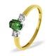 18K Gold Diamond Tsavorite Ring 0.20ct - image 2