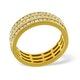 Mens 1.5ct G/Vs Diamond 18K Gold Full Band Ring - image 3