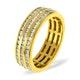 Mens 1.5ct G/Vs Diamond 18K Gold Full Band Ring - image 1