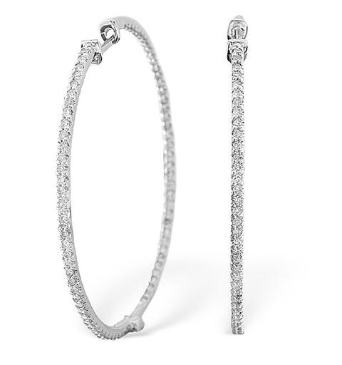 9KW Diamond Hoop Earrings 1ct - image 1