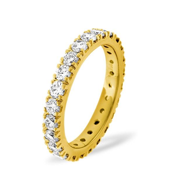 Mens 2ct H/Si Diamond 18K Gold Full Band Ring  IHG20-422JUA - image 1