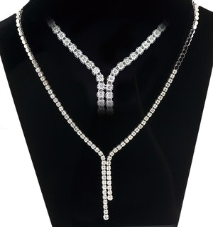 18KW Diamond Necklace 3ct H/Si