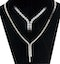 3ct Diamond Necklace Set In 18K White Gold - image 1