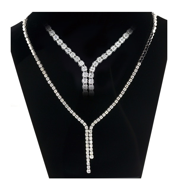 18KW Diamond Necklace 3ct H/Si - image 1