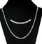 1.50ct Diamond Necklace Set in 18K White Gold - image 3