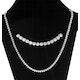 5.50ct Diamond Necklace Set in 18K White Gold - image 4