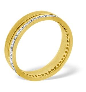 Mens 0.27ct H/Si Diamond 18K Gold Dress Ring