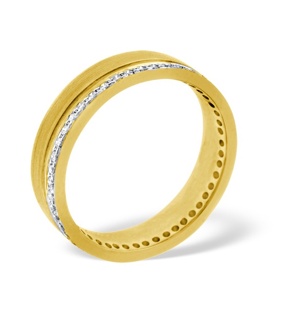 Mens 0.27ct G/Vs Diamond 18K Gold Dress Ring - image 1