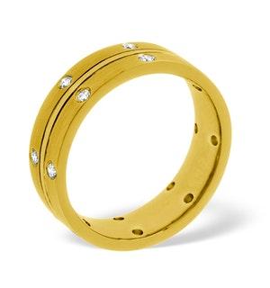 Mens 0.21ct G/Vs Diamond 18K Gold Dress Ring