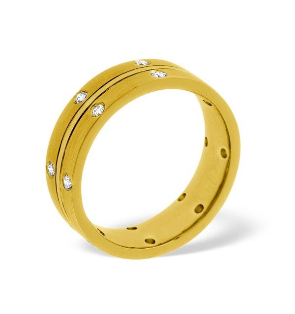 Lucy 18K Gold Diamond Wedding Ring 0.21CT G/VS - image 1