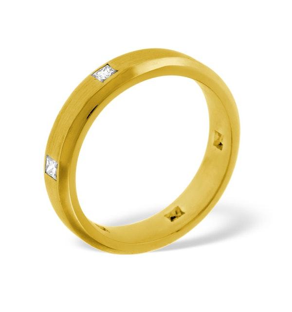 Jessica 18K Gold Diamond Wedding Ring 0.28CT H/SI - image 1