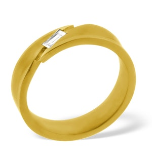 Mens 0.07ct H/Si Diamond 18K Gold Dress Ring