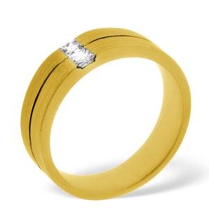Mens 0.16ct G/Vs Diamond 18K Gold Dress Ring