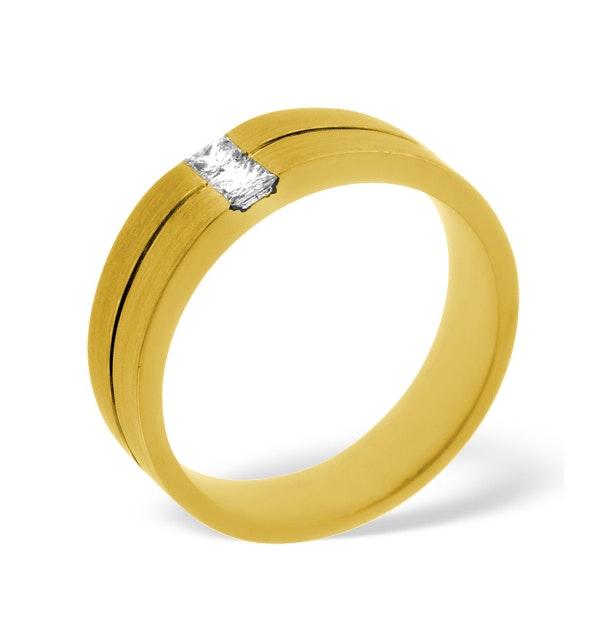 Mens 0.16ct G/Vs Diamond 18K Gold Dress Ring - image 1