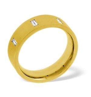 Mens 0.17ct G/Vs Diamond 18K Gold Dress Ring