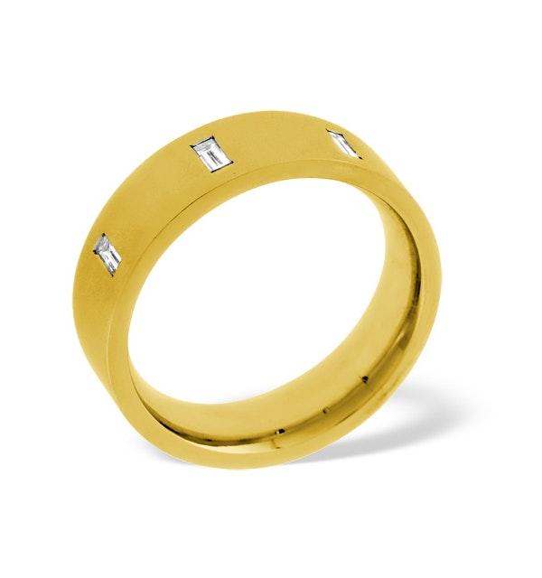 Mens 0.17ct H/Si Diamond 18K Gold Dress Ring - image 1