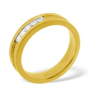 18K GOLD DIAMOND LADIES WEDDING RING 0.22CT G/VS