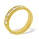 Mens 0.49ct H/Si Diamond 18K Gold Dress Ring - image 1